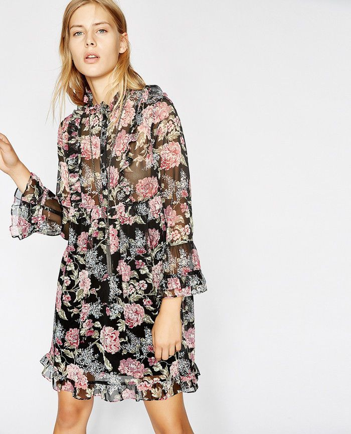bcd82a4ddc9 2018 AW The Kooples Dress LILI ROSE FLUID PRINTED DRESS | Clothing, Shoes &  Accessories