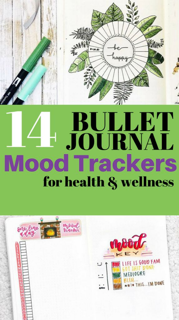 Try tracking your mood in your bullet journal every day with the help of these beautiful mood trackers!