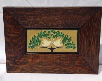 Mitered frame, Frame, Craftsman Frame, Motawi tile Frame, Art tile, Motawi Tile, Mission Frame, White Oak,