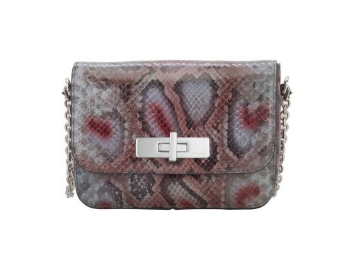 Mini Missy bag is a playful and elegant version of the Missy bag, this style is a must have with its softest python print. It features feminine hues that would complement any outfit, and would take you from day to night.