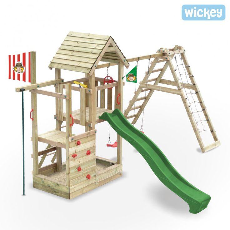Aire de jeux Wickey Fire station avec toboggan