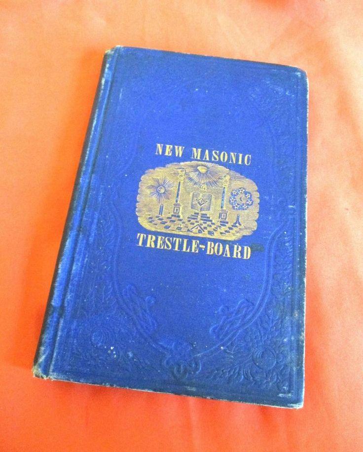 Best 25 masons masonry ideas on pinterest vintage new masonic trestle board book 1850 charles w moore mason masonry pronofoot35fo Images