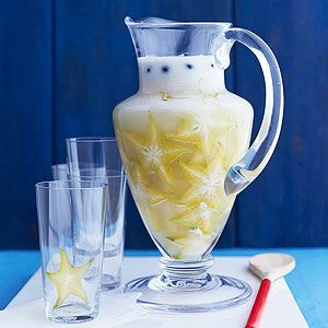Coconut Cream Island Punch - C'mon -- spike the punch! (We know you want to.) This silky smooth recipe calls for grapefruit soda, coconut sorbet, fresh star fruit, and spiced rum.