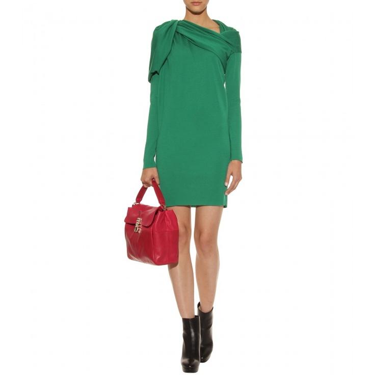 Lanvin Draped Wool Dress