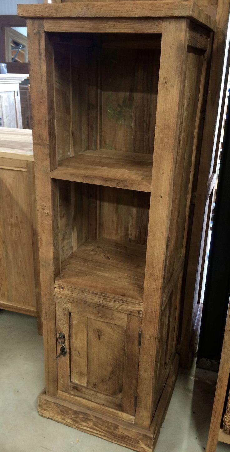 Rustiek boekenkastje een schattige kastje met body gemaakt van grof teakhout geschikt voor elk - Solide teakhout ...