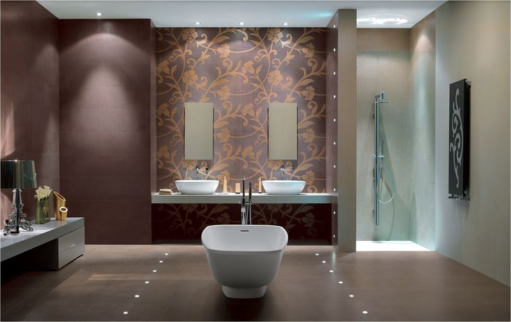 """Ti-Led 2.0 lighting system """"built into"""" porcelain stoneware tile (bathroom concept) by Ceramiche Atlas Concorde 