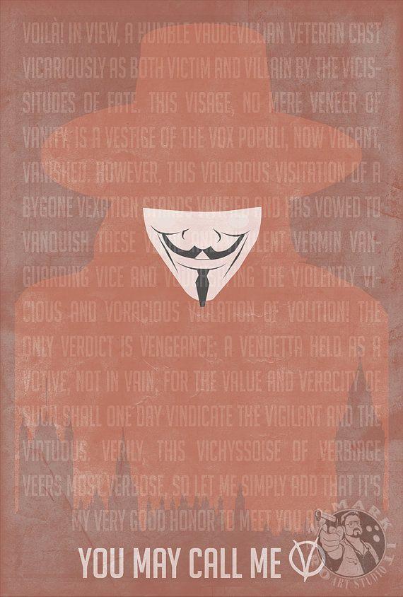 V for Vendetta You May Call Me V Movie by MarkItZeroArtStudio