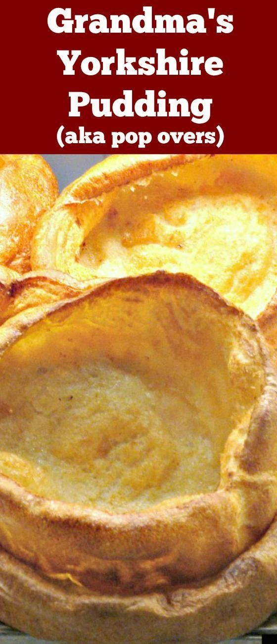 Yorkshire Pudding, a.k.a. popovers are so delicious! Serve as part of a main meal with lots of gravy, or as an appetizer and fill them with goodies. You can also serve these as a dessert, adding some nice fruits or pie filling and ice cream! You decide. They are so yummy! Make in one pan or mini muffins. via /lovefoodies/