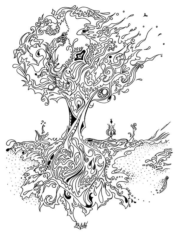 coloring book pine tree google search