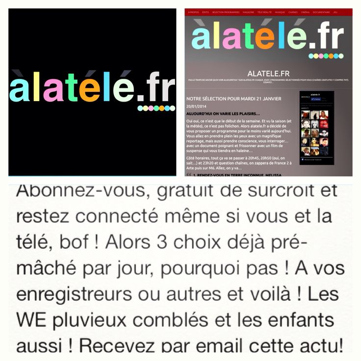 Actualité TV en France site web gratuit  3 programmes par jours