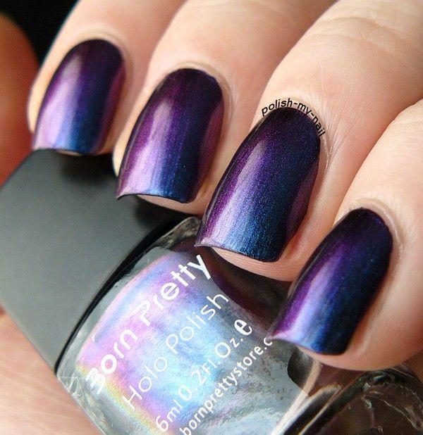 1 бутылка 6 мл Born pretty Хамелеон Фиолетовый Синий цвет Лак Для Ногтей Высокого Качества (черный Основной Цвет Необходимости) #217 купить на AliExpress