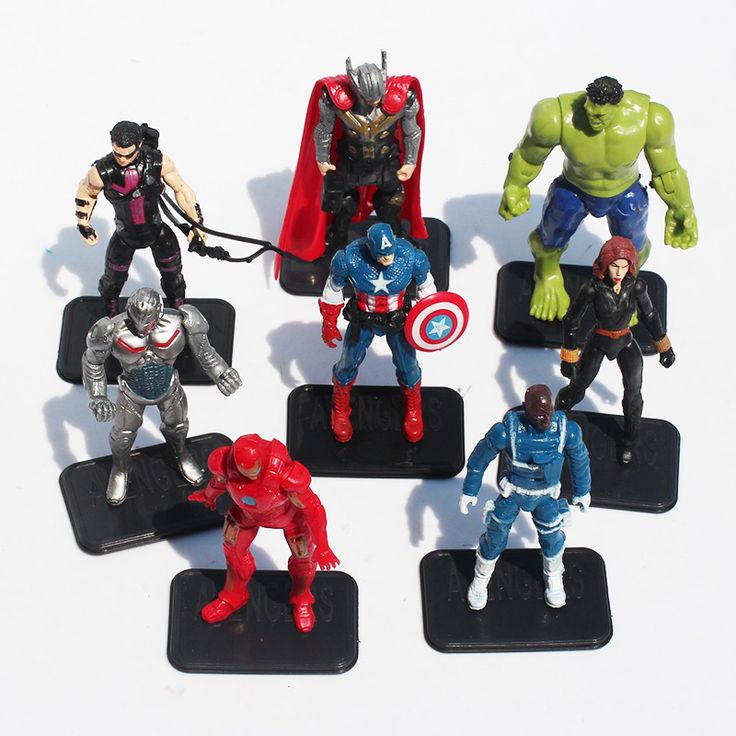 8Pcs The Avengers 2 Action Figures Toy Batman Captain America Thor Hulk Iron Man Vision Toys //Price: $22.60 & FREE Shipping //     #actionfigure