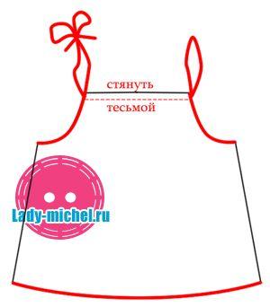 Выкройка летнего платья для девочки 12 мес - Одежда для малышей - Выкройки для детей - Каталог статей - Выкройки для детей, детская мода