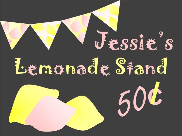 Lemonade Stand sign, vintage lemonade signs, Chalkboard lemonade signage, custom lemonade sign Poster size 18 x 24 printable lemonade sign by OlicePartyPrintables on Etsy