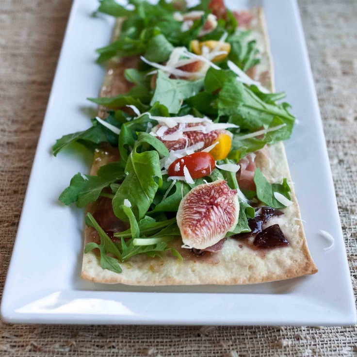 Fig Arugula Lavash Pizza by foodjimoto Pizza Fig Lavash foodjimoto