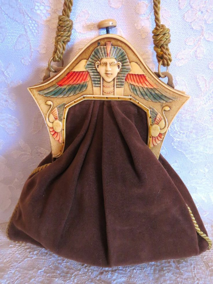 Vintage Art Deco 1920s Celluloid Purse Frame Egyptian Revival