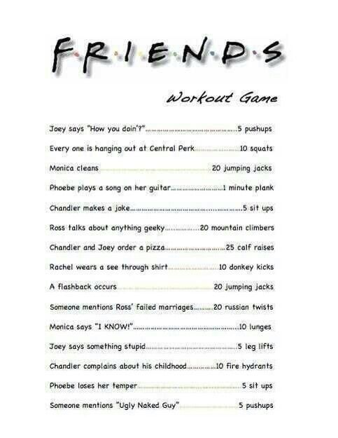 Friends exercise game