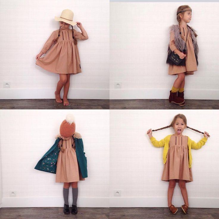 1 dress ..... 4 seasons #kidswardrobe #kidsstyle #toertjesenpateekes