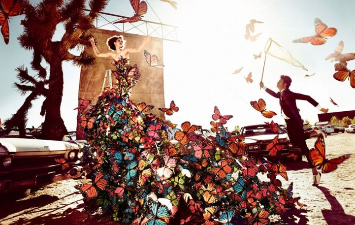 a gorgeous dress made of butterflies. yes!