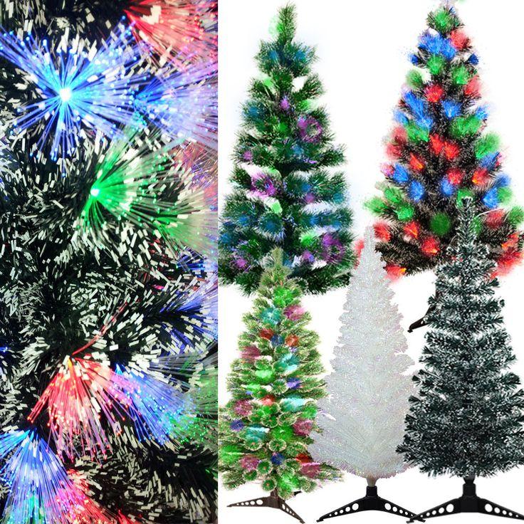 Künstlicher Weihnachtsbaum Tannenbaum LED beleuchtet Fiberoptik Glasfaser Baum