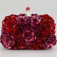 floral clutch instead of bouquet