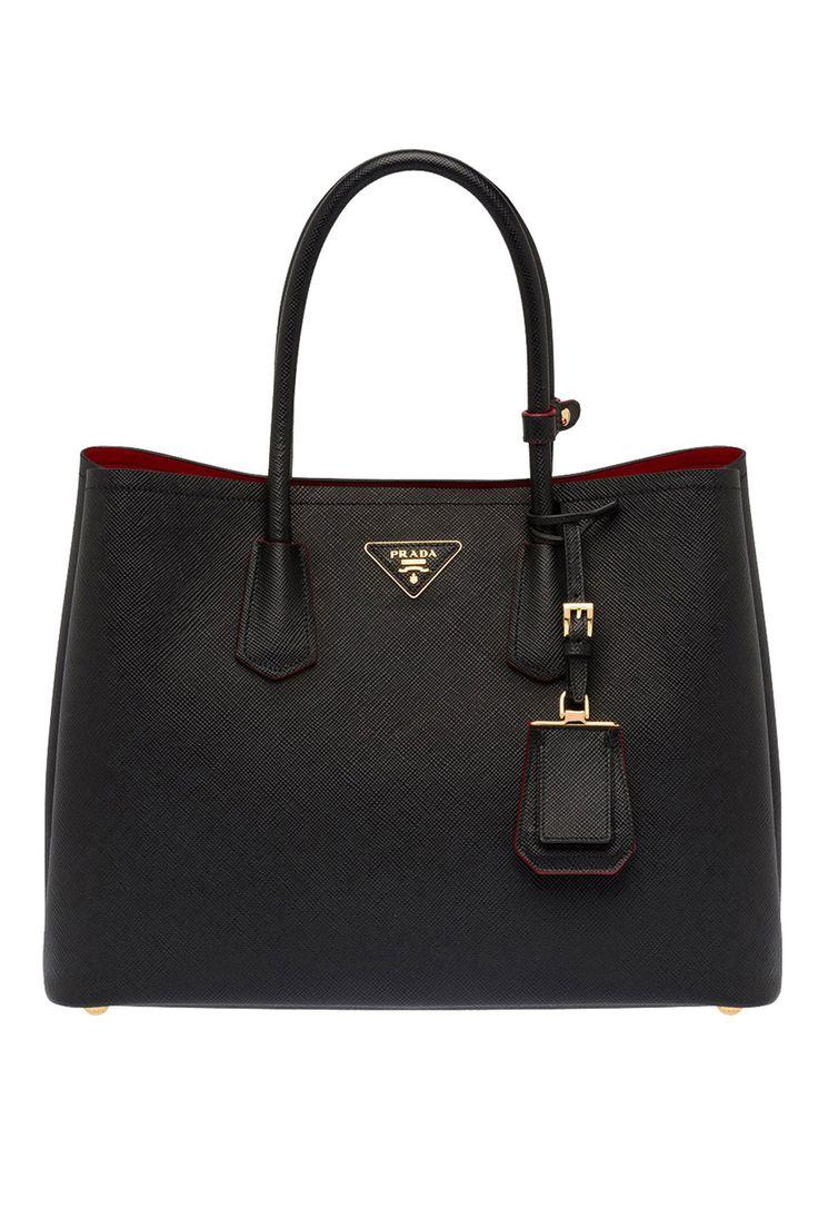 Prada - Saffiano Cuir Leather Tote in Black