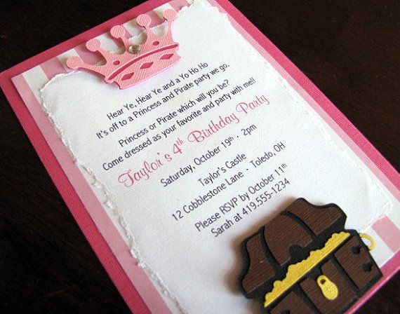 21 best for nephew images on pinterest birthday party ideas princess and pirate party invitation by scrapyourstory on etsy 275 filmwisefo