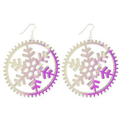 Lumi Multicolour #Drop Modern Snowflake #Earrings #Big. By KiviMeri.