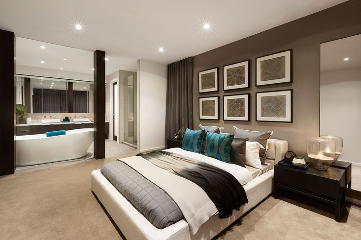 The Master Bedroom in the Sala 6-32 by Urbanedge Homes. #urbanedgehomes #melbournebuilder #home #homedesign #bedroom #masterbedroom #living #interiors #interiordesign #modernhome #alifewithstyle