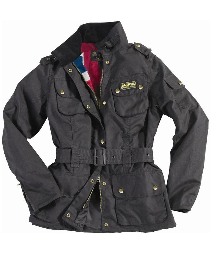 Barbour Ladies Union Jack International Waxed Jacket
