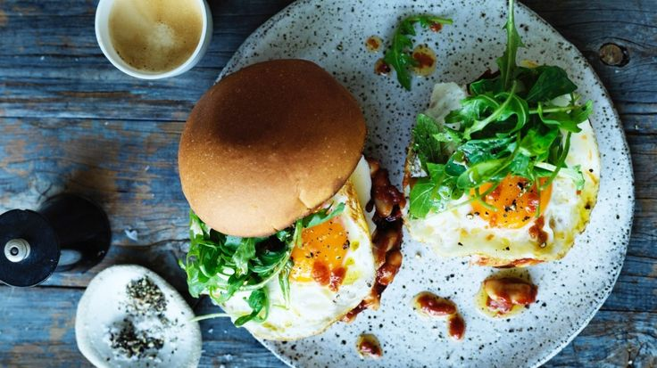 Jill Dupleix's bean and bacon breakfast roll