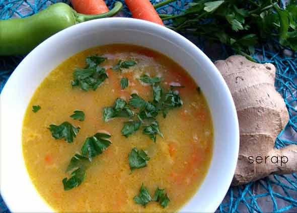 Zencefilli Grip Çorbası Tarifi | Yemek Tarifleri Sitesi - Oktay Usta - Harika ve Nefis Yemek Tarifleri