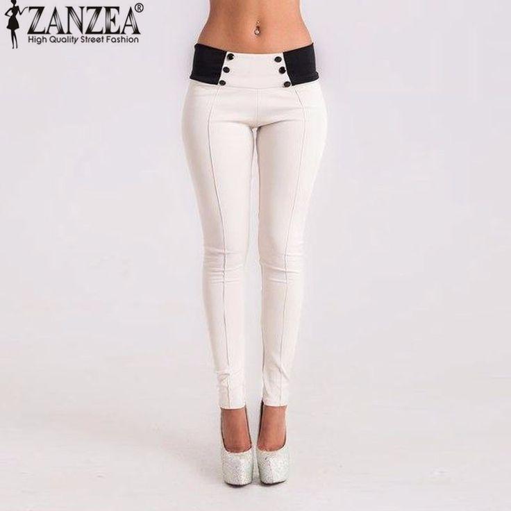 [$17.36] - Autumn 2017 Vintage Slim Women Pants Sexy Casual Low Waist Trousers Plus Size Feet Bodycon Skinny Pencil Leggings Ladies Pants