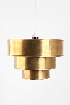 brass pendant: Urbanoutfitters, Tiered Pendant, For Brass, Urban Outfitters, Triple Tiered, Pendants, Lighting