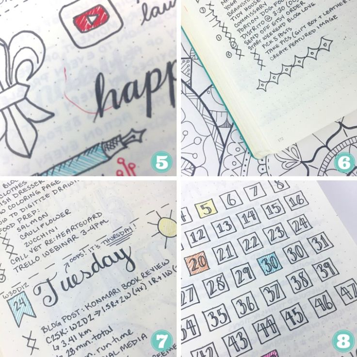 "Bullet Journal - Heres some ""oops"" pages for ya!"
