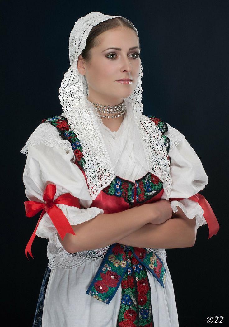 Woman in folk costume from Turiec area in Slovakia/ Turčiansky kroj