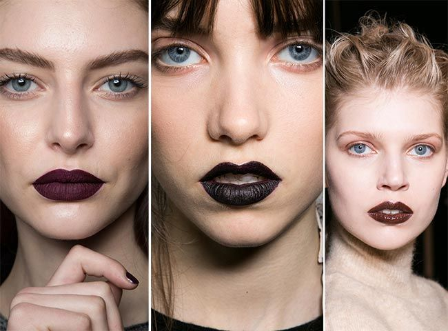 Fall/ Winter 2015-2016 Makeup Trends: Black Lips  #makeup #trends #beauty