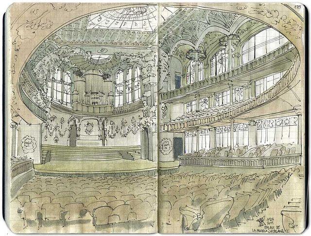 #moleskine #sketchbook - Palau de la Musica Catalana #1 by Freekhand