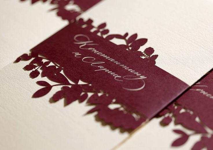 Конверт свадебного приглашения