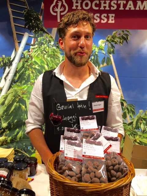 Chocolate coated cherries http://newinzurich.com/2015/11/slow-food-market-in-photos/