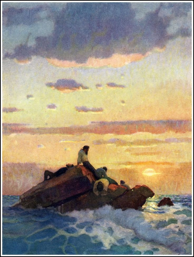 """The Mysterious Island""  NC Wyeth.:"