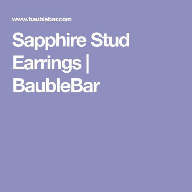 Sapphire Stud Earrings | BaubleBar