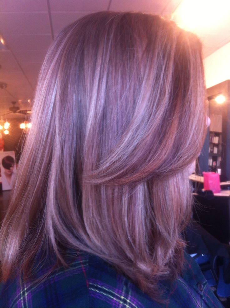 17 Best Images About Purple Lowlights For Grey Hair On