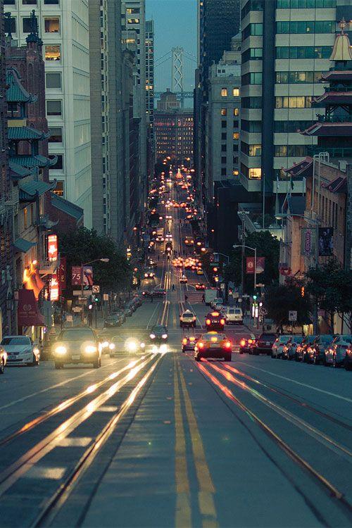 city street photography cars city buildings