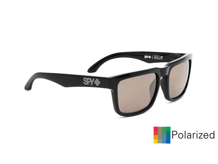 Spy Helm/Black-Happy Bronze Polar Black Mirror/57-18  #spy #sunglasses #optofashion  Το Spy Helm είναι ενα κοκκάλινο γυαλί ηλίου με μαύρο ματ πλαίσιο και γκρί πολαριζέ φακό. Το μεσαίο μέγεθός του και το ορθογώνιο σχήμα του ικανοποεί τα περισσότερα σχήματα προσώπου. Επέλεξε το Spy Helm/Black-Happy Bronze Black Mirror Polarized για μια ξεχωριστή και έξυπνη επιλογή.