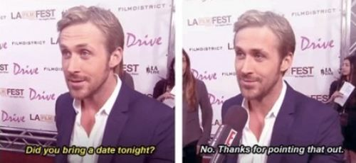 he's available?: Ryan Gosling, Funny Funny, Awkward Moments, Laugh, Funny Stuff, Beards Boys, Be Single, People, Giggles
