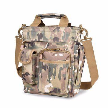 Men Nylon Waterproof Tactical Outdoor Sport Crossbody Bag Handbag - US$39.09