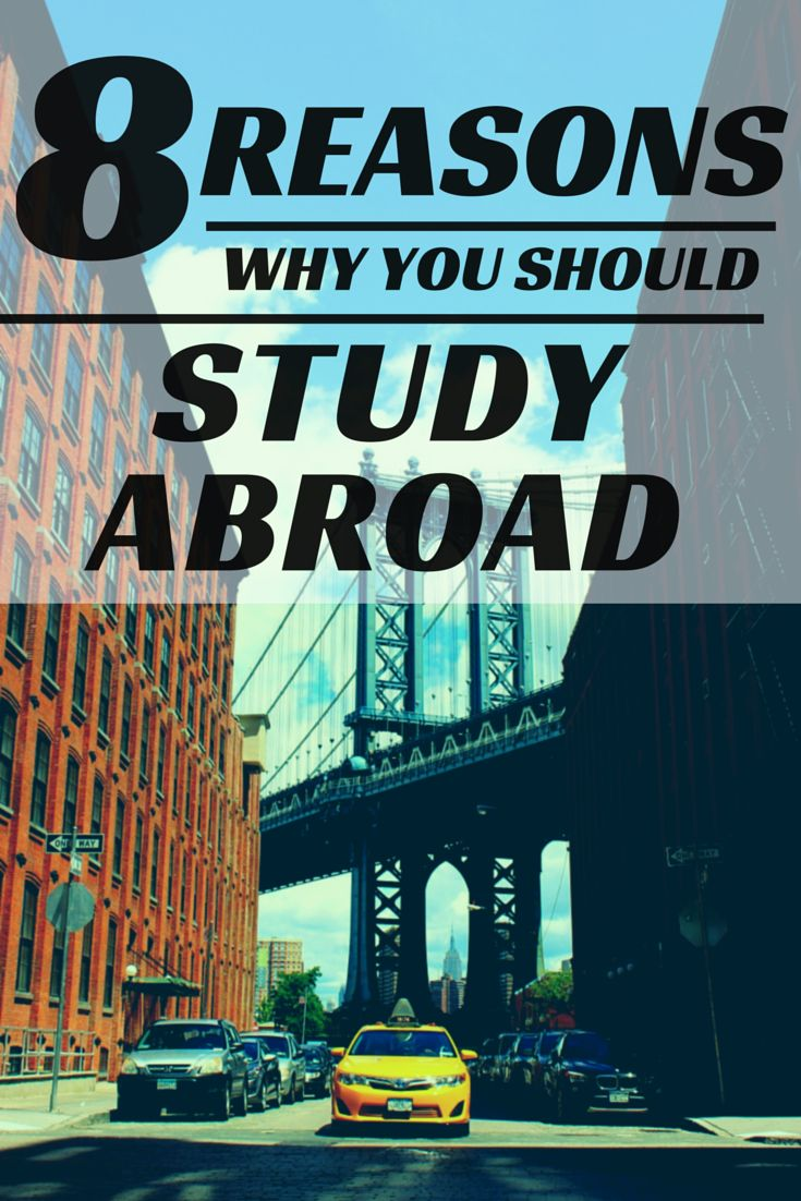 These 8 reasons will remove any doubts you might have about packing your bag and crossing the pond! #studyabroad #college #travel