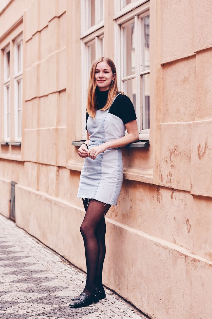 OUTFIT | Zara Denim Dress // fashion blogger from Amsterdam, style, look, fashion, inspiration, prague, outfit, loafers