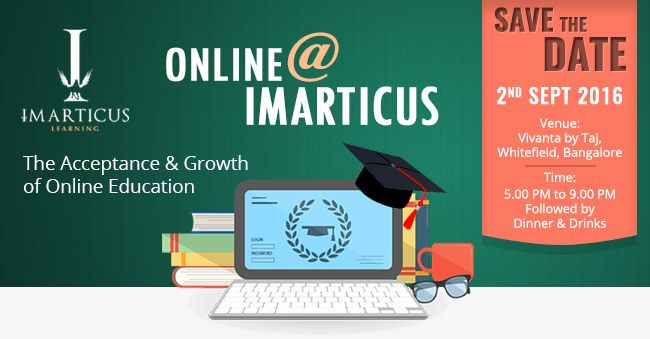Online education has experienced dramatic growth in recent years in both the retail and enterprise segments. Online@Imarticus is devoted to driving quality online learning, advancing best practices and accelerating innovation in learning. Join us for this Roundtable Conference to learn about current and emerging trends in online learning, collaborate and network with your peers on top-of-mind challenges that will impact the future of online learning.